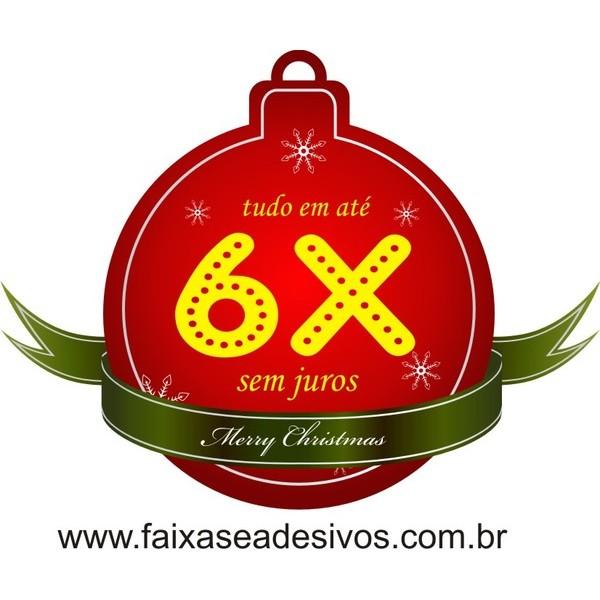 Adesivo Natal Tag Bola 6x  - Fac Signs