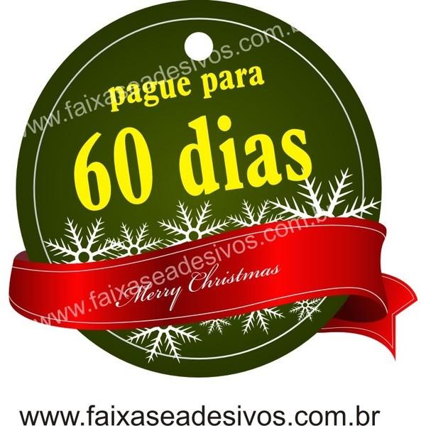 Adesivo Natal Tag Verde 10x  - Fac Signs