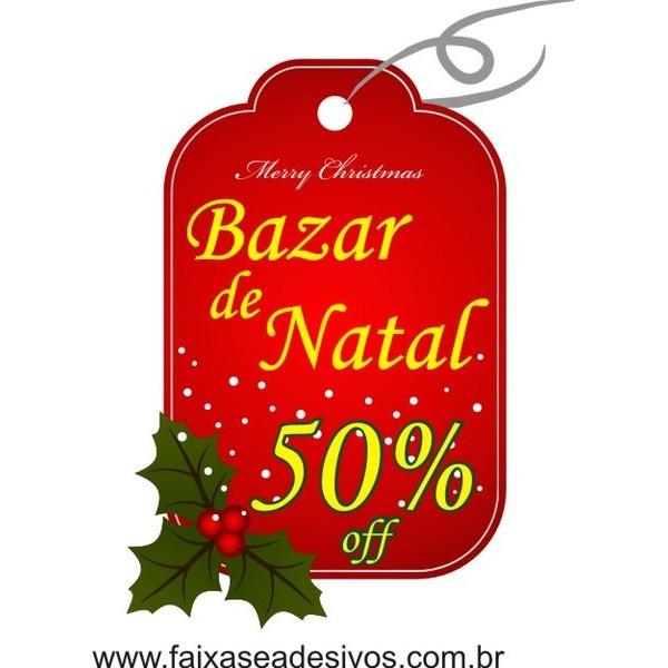 Adesivo Natal Tag Bazar  - Fac Signs