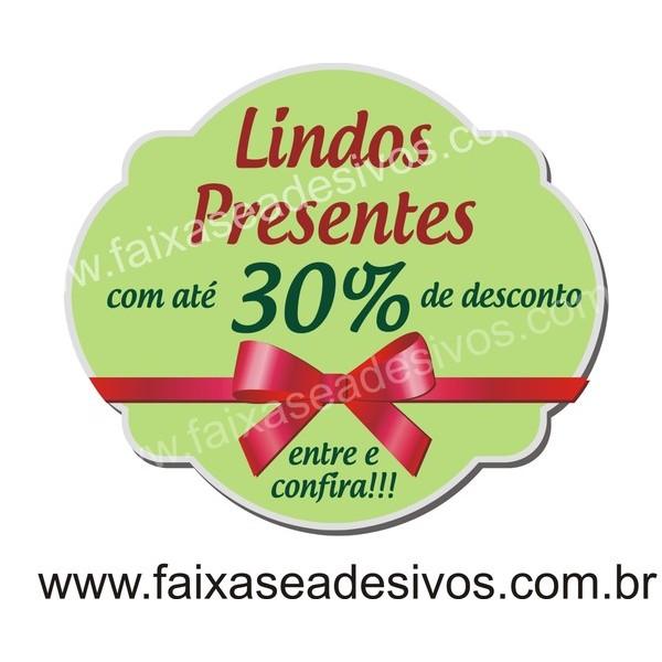 Adesivo de Natal BOX Verde 40 x 35cm  - Fac Signs