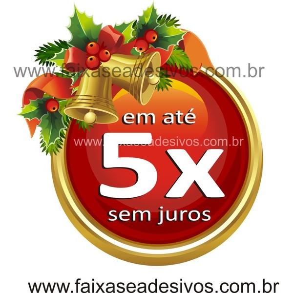 Adesivo de Natal 5x Sino 50 x 50cm  - Fac Signs