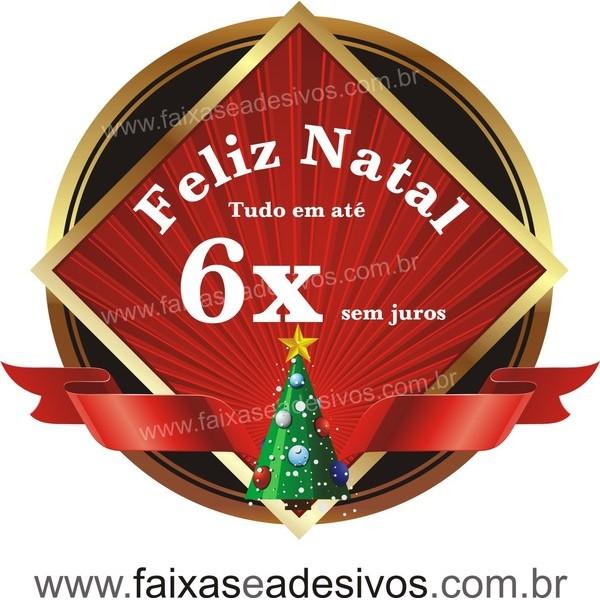 Adesivo Natal Clássico Arvore 50 x 55cm  - Fac Signs