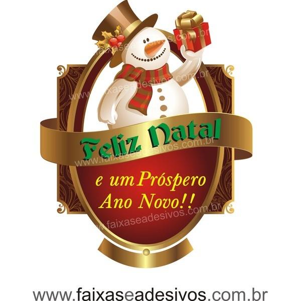 Adesivo Natal Clássico Boneco de Neve 70 x 55cm  - Fac Signs