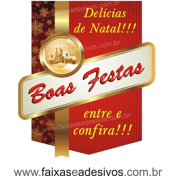 Adesivo Natal Clássico Delicias 50 x 40cm  - Fac Signs
