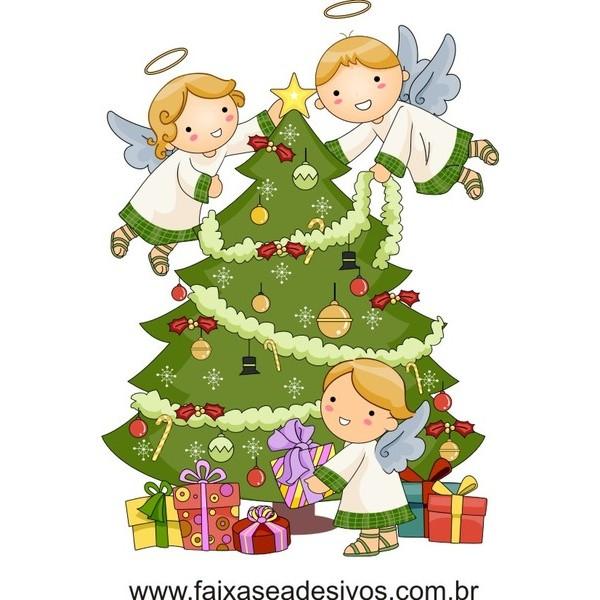 Adesivo Arvore de Natal Infantil - 2533  - FAC Signs Impressão Digital