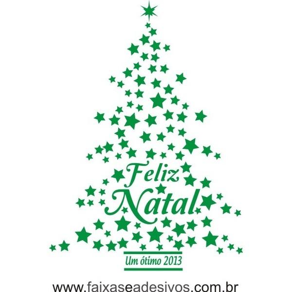 Adesivo Arvore de Natal 1,00 x 0,70m (diversas cores) 2526  - Fac Signs