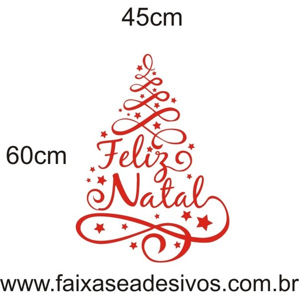 Adesivo Arvore de Natal Arabesco (diversos tamanhos) - 2525  - Fac Signs
