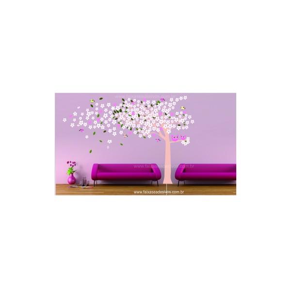 015 - ArvoreAdesivo Decorativo ao Vento da Minha Imaginação 3,00 x 2,00m  - Fac Signs