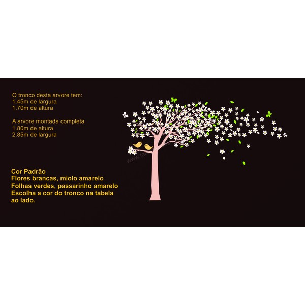 003 - Arvore Adesivo Decorativo ao Vento da Imaginação  tipo II  - Fac Signs