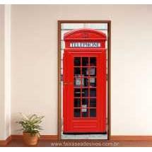 Porta Personalizada e decorada CABINE - 220 x 85cm  - Fac Signs
