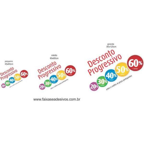 Adesivo Descontos Progressivos Cores  - Fac Signs