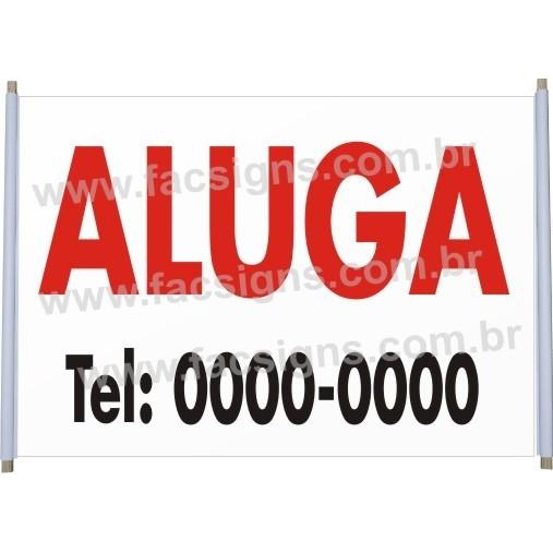 Faixa Aluga   - FAC Signs Impressão Digital