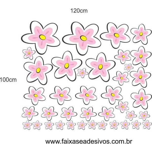 Fly Flores adesivo cartela 1,00 x 1,20cm  - Fac Signs