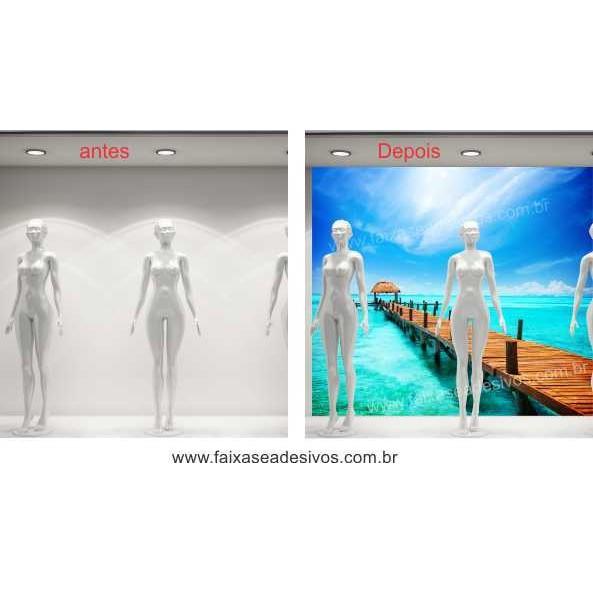 Mar Paraíso  Adesivo Decorativo de parede - vários tamanhos  - FAC Signs Impressão Digital