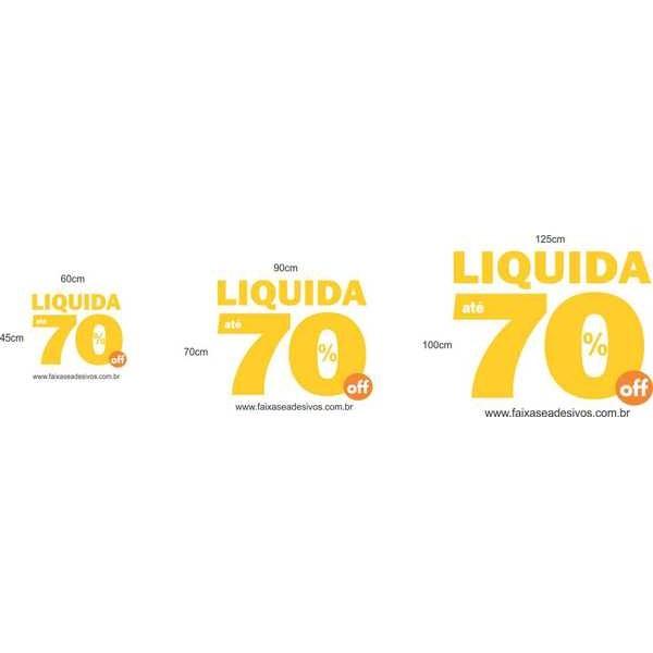 Adesivo Troca Estoque - Yellow 70% - vários tamanhos  - Fac Signs