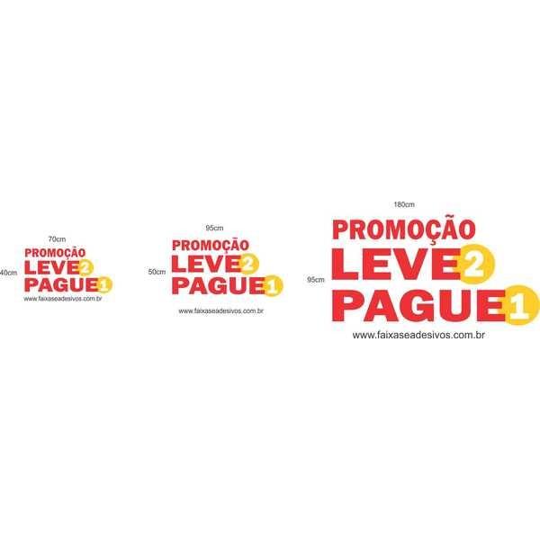 Adesivo promocional - leve 2 pague 1 - vários  - Fac Signs