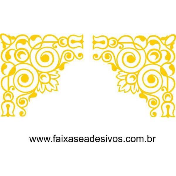 Arabesco Adesivo Cantoneira Ornamental  - FAC Signs Impressão Digital