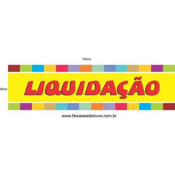 Liquidação colorido new 150x40cm  - Fac Signs