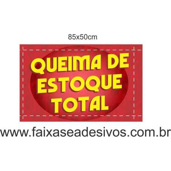 Queima de Estoque - efeito linha - adesivo 85x50cm  - Fac Signs