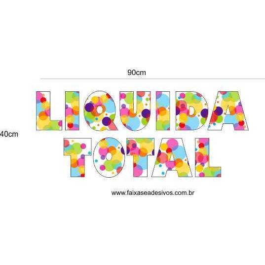Liquida Total Cores e formas - vários tamanhos  - Fac Signs