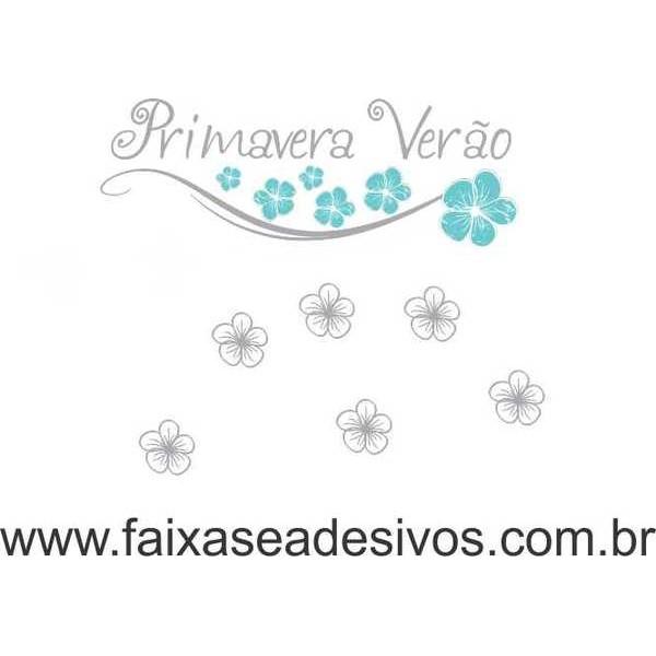 Flores ao Vento Brisa - Adesivo Primavera Verão  - Fac Signs