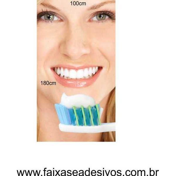 Adesivo Decorativo 100x180cm - Escovando os Dentes  - Fac Signs