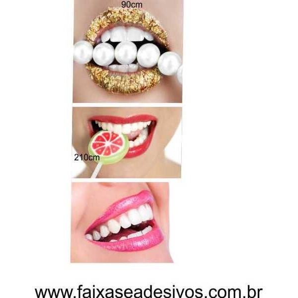 Boca e Brilho Adesivo Decorativo  90x210cm  - Fac Signs