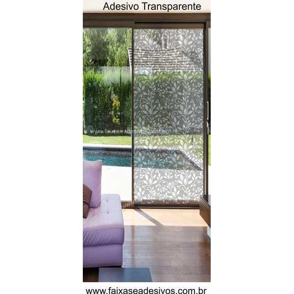 093 VD - Adesivo Decorativo para Vidro Arabesco Moderno Floral 210x70cm  - Fac Signs