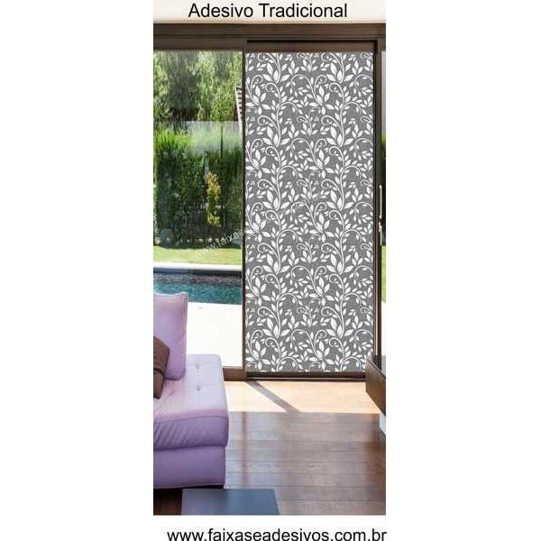Artesanato Simples Com Eva ~ 003 Adesivo Decorativo para Vidro Arabesco Moderno