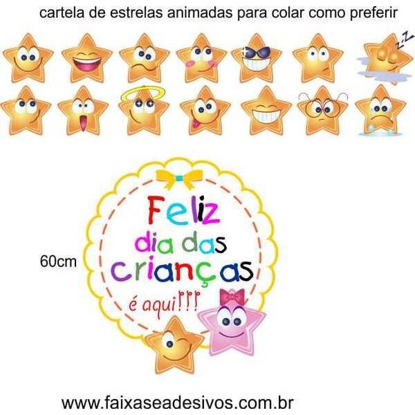 Dia das Crianças iluminado de alegria adesivos divertidos  - Fac Signs
