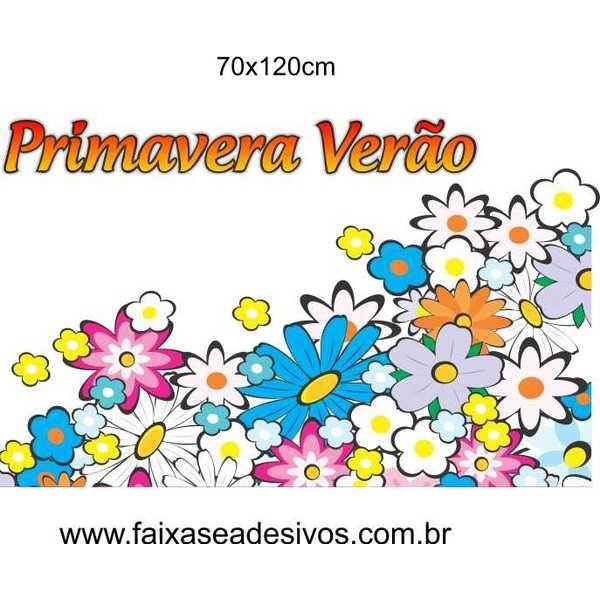 Cores da Primavera em Flores Adesivo de vitrine 120x70cm  - Fac Signs
