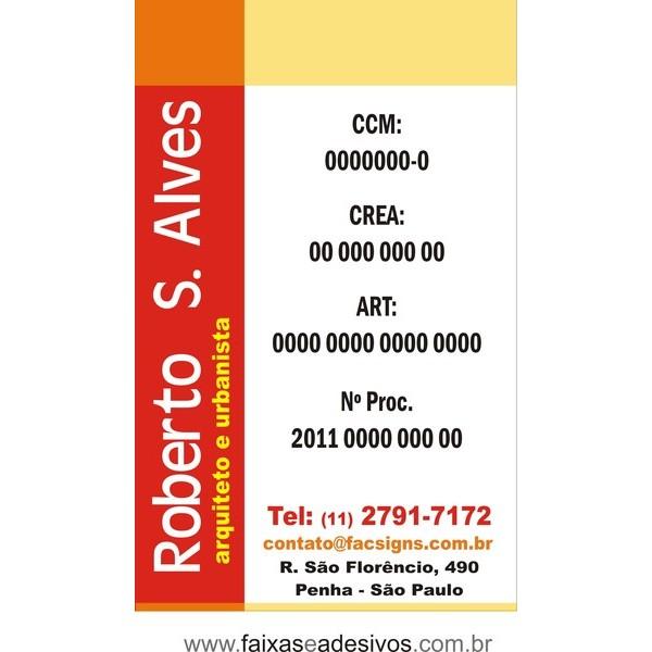 3015 - Placa  em PVC - Qualquer Tema ou Obra 80x50cm - Fazemos a arte!  - FAC Signs Impressão Digital