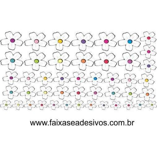 Cartela de Flores Bambina 120x60cm  - Fac Signs