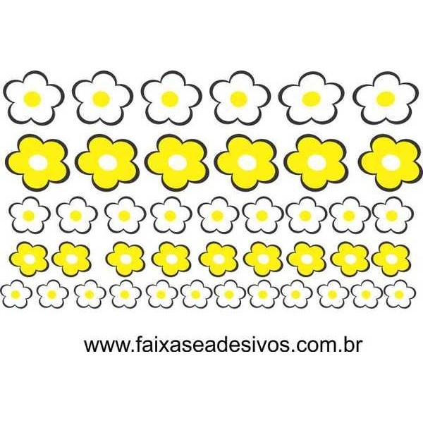 Cartela de Adesivos Flor de Lima 1,20 x 0,70m  - Fac Signs