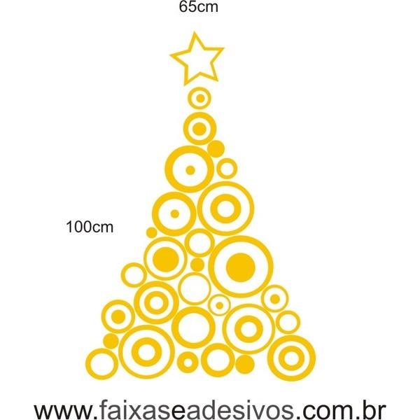 Adesivo Arvore de Natal circular - P M G - 2527  - Fac Signs