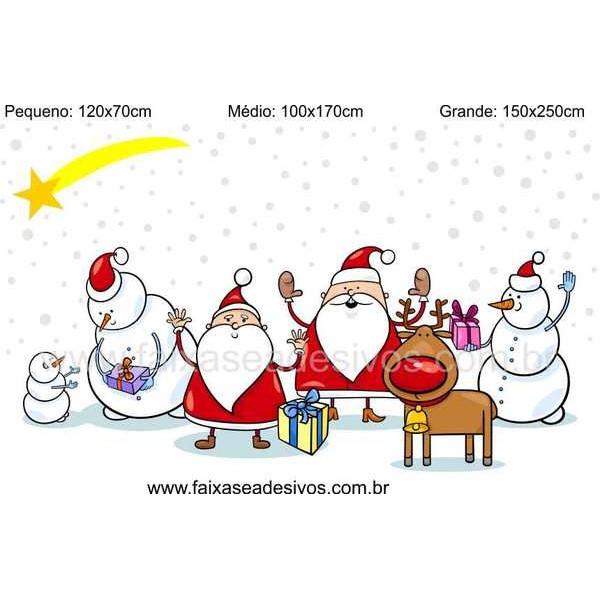 Adesivo Decorativo de Natal - P M G - Neve da Alegria  - Fac Signs