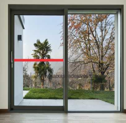 401 - Faixa de segurança para vidro com 5cm - Escolha a cor  - Fac Signs