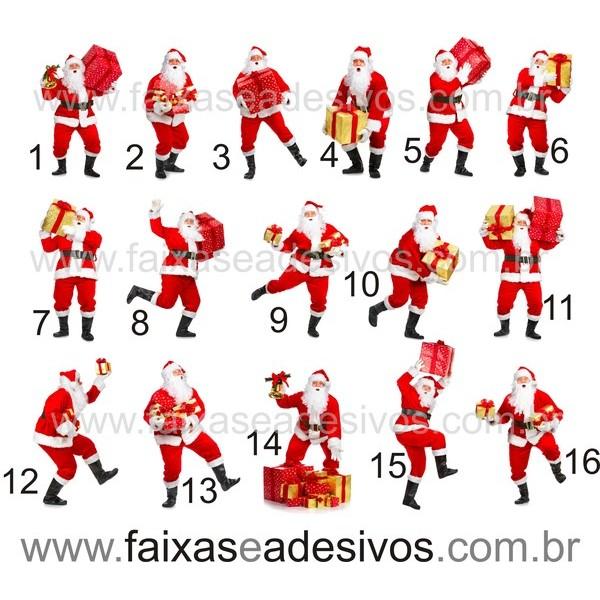 Papai Noel adesivo impresso 1,50m altura  - Fac Signs