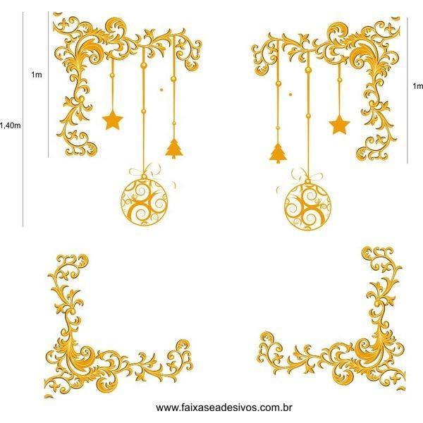 Cantoneiras Frame de Natal adesivos  - Fac Signs