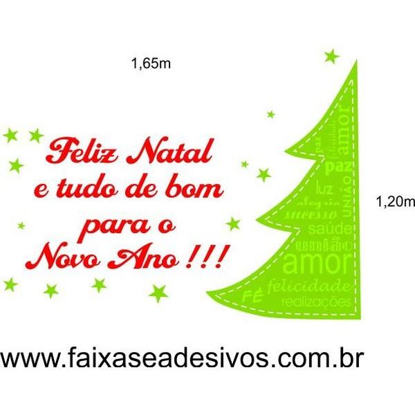Adesivo Arvore dos desejos de Natal 1,20x1,65m  - Fac Signs