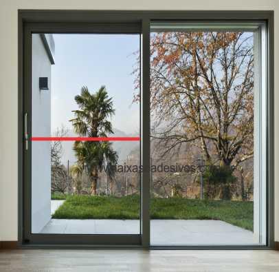400 - Faixa de segurança para vidro com 3cm - Escolha a cor  - FAC Signs Impressão Digital