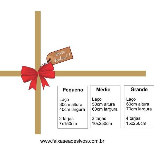 Adesivo presente de Loja Laço de Natal - P M G  - Fac Signs