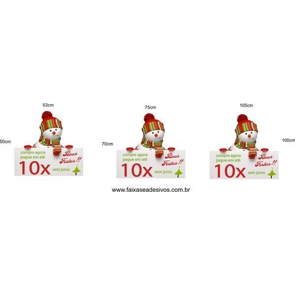 Boneco de Neve Informativo - adesivo P M G  - FAC Signs Impressão Digital