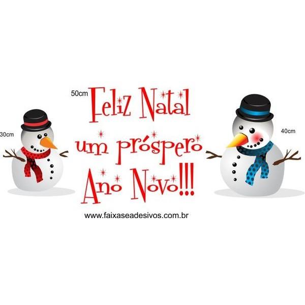 Adesivo de Natal Bonecos de Neve 1,20 x 0,50m  - Fac Signs