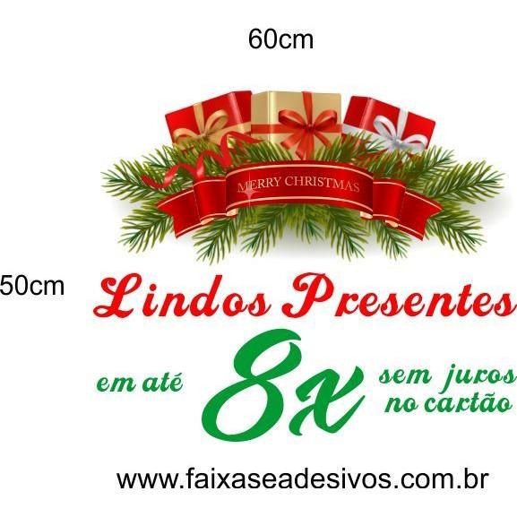 Adesivo de Natal 8x no cartão 60 x 50cm  - Fac Signs