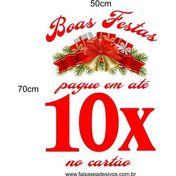 Boas Festas em 10x (50 x 70cm)  - FAC Signs Impressão Digital