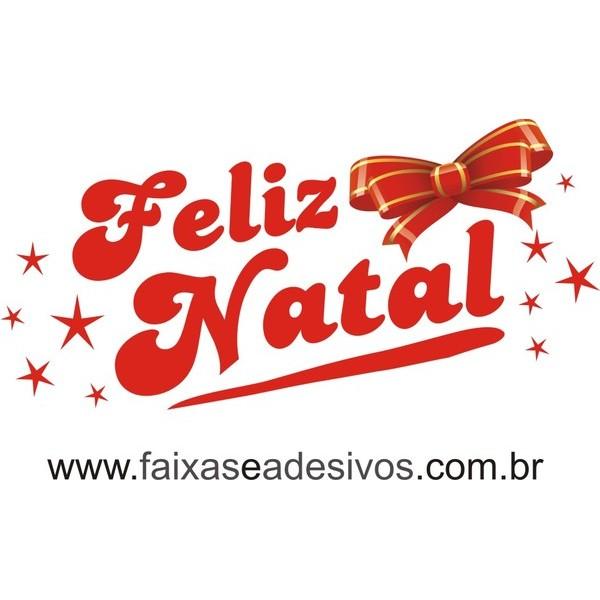 Adesivo Feliz Natal Laço (P-M-G)  - Fac Signs