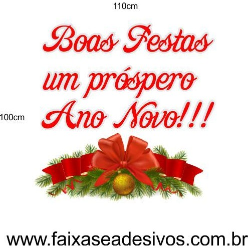Adesivo Natal e Ano Novo 1,10 x 1,00m  - FAC Signs Impressão Digital