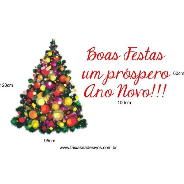Adesivo Arvore de Natal Luz 1,20 x 0,95m + 1,00 x 0,60m  - Fac Signs