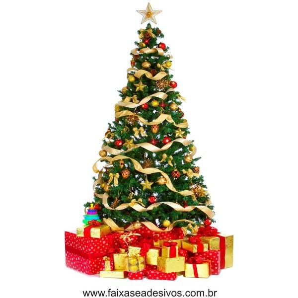Adesivo Arvore de Natal com Caixas de Presente - 2528  - Fac Signs